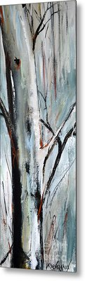 Metal Print featuring the painting Single Aspen by Cher Devereaux