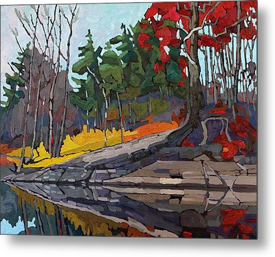 Singleton Autumn Metal Print