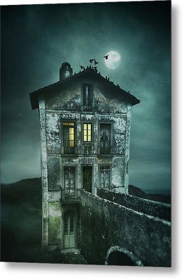 Sinister Old House Metal Print