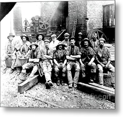 Sinkers,rossington Colliery,1915 Metal Print