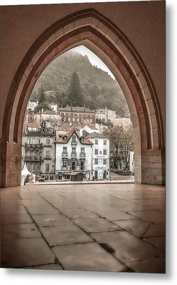 Sintra Through The Arch Metal Print by Julie Palencia