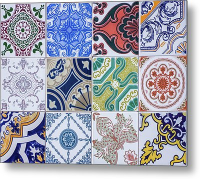 Metal Print featuring the photograph Sintra Tiles by Carlos Caetano