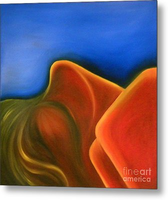 Sinuous Curves Iv Metal Print by Fanny Diaz