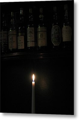 Sipping By Candlelight Metal Print by Staci-Jill Burnley