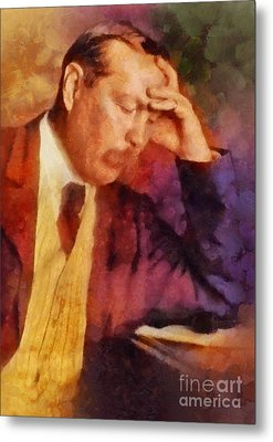 Sir Arthur Conan Doyle, Literary Legend Metal Print