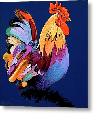 Metal Print featuring the painting Sir Chanticleer by Bob Coonts