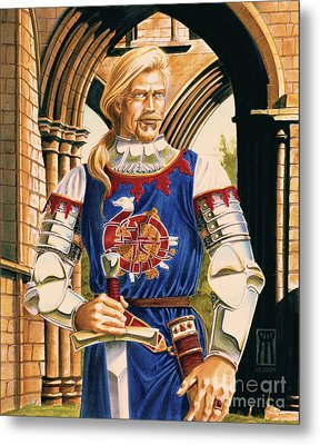Sir Dinadan Metal Print by Melissa A Benson