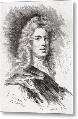Sir Godfrey Kneller, 1st Baronet, 1646 Metal Print by Vintage Design Pics
