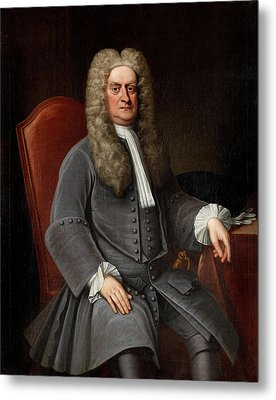 Sir Isaac Newton Metal Print by War Is Hell Store