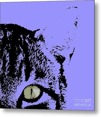 Sir Rodgerson On Purple Background Metal Print