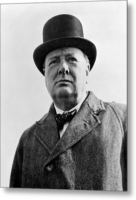 Sir Winston Churchill Metal Print by War Is Hell Store