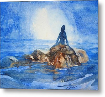Metal Print featuring the painting Siren Song by Marilyn Jacobson