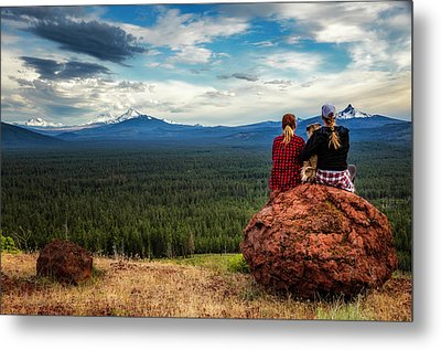 Metal Print featuring the photograph Sisters by Cat Connor