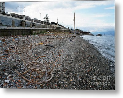 Sit Back And Enjoy The Sea Metal Print