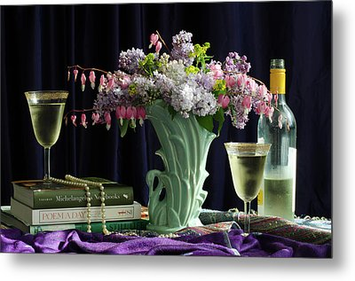 Sit, Sip And Smell, May 2017 Metal Print by Wendy Blomseth