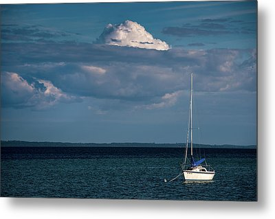 Metal Print featuring the photograph Sittin By The Bay by Onyonet  Photo Studios