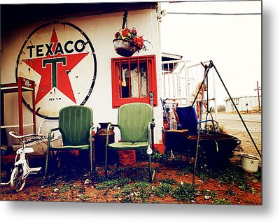 Sitting At The Texaco Metal Print