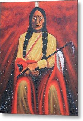 Sitting Bull - Siuox Shaman Metal Print