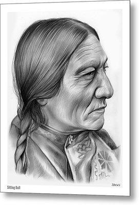 Sitting Bull Metal Print by Greg Joens