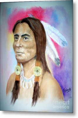 Sitting Bull Metal Print by John De Young