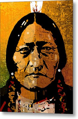 Sitting Bull Metal Print by Paul Sachtleben