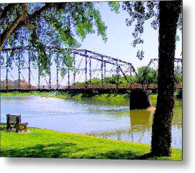 Metal Print featuring the photograph Sitting In Fort Benton by Susan Kinney