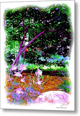 Metal Print featuring the painting Sitting In The Shade by Patricia Griffin Brett
