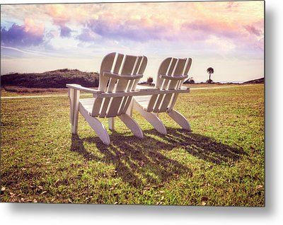 Metal Print featuring the photograph Sitting In The Sun by Debra and Dave Vanderlaan