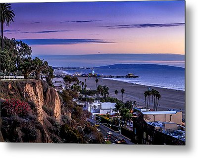 Sitting On The Fence - Santa Monica Pier Metal Print
