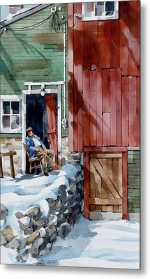 Sitting Out Winter Metal Print by Art Scholz