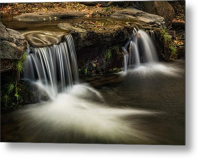 Metal Print featuring the photograph Sitting Under The Waterfall  by Saija Lehtonen