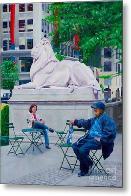 Sitting With Patience Metal Print by Lou Spina