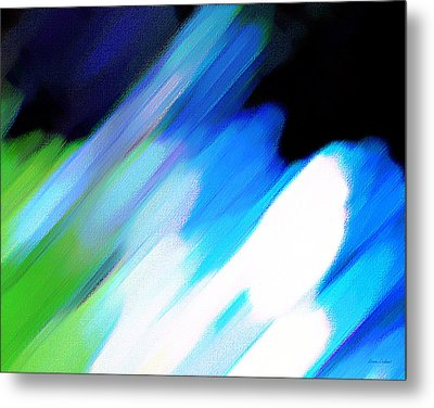 Sivilia 10 Abstract Metal Print by Donna Corless