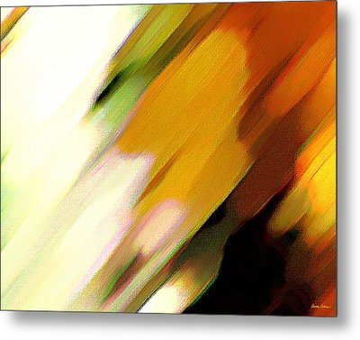 Metal Print featuring the painting Sivilia 2 Abstract by Donna Corless