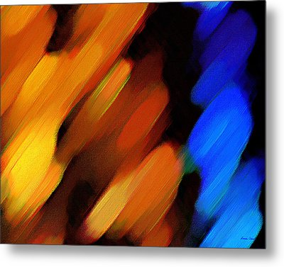 Metal Print featuring the painting Sivilia 3 Abstract by Donna Corless