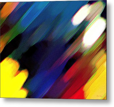 Metal Print featuring the painting Sivilia 4 Abstract by Donna Corless