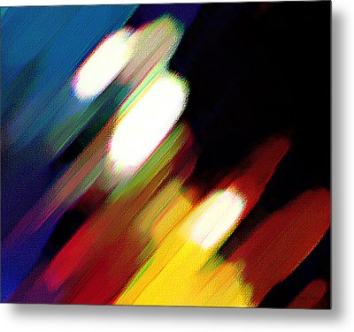 Metal Print featuring the painting Sivilia 5 Abstract by Donna Corless