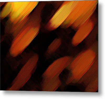 Metal Print featuring the painting Sivilia 7 Abstract by Donna Corless
