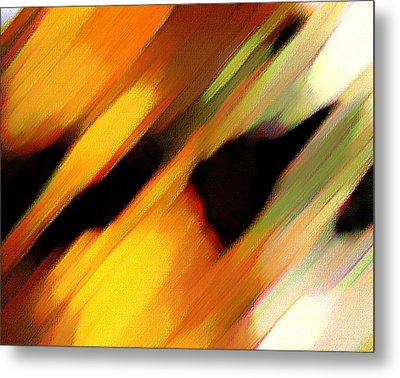 Metal Print featuring the painting Sivilia 8 Abstract by Donna Corless