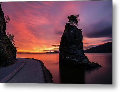 Metal Print featuring the photograph Siwash Rock Along The Sea Wall by Pierre Leclerc Photography