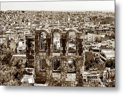 Six Arches In Athens Metal Print by John Rizzuto