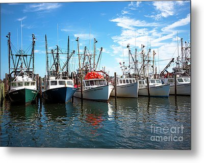 Metal Print featuring the photograph Six Boats In The Bay by John Rizzuto