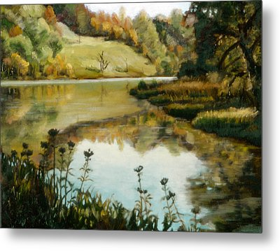 Six Mile Creek Ithaca Metal Print by John Clum