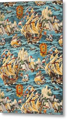 Sixteenth Century Ships Metal Print
