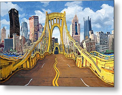 Sixth Street Bridge, Pittsburgh Metal Print by Frank Harris