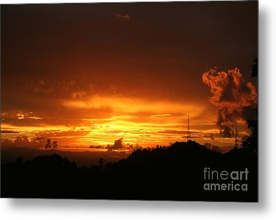 Metal Print featuring the photograph Sizzling Sunset by The Art of Alice Terrill