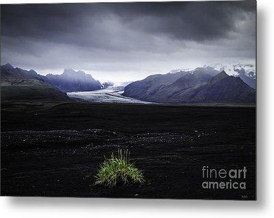 Skaftafellsjokull Glacier Metal Print by Nancy Dempsey