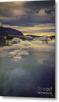 Skaftafellsjokull Lagoon Metal Print by Nancy Dempsey