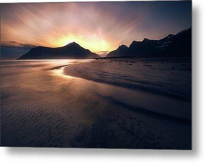 Skagsanden Sunrise Metal Print by Tor-Ivar Naess