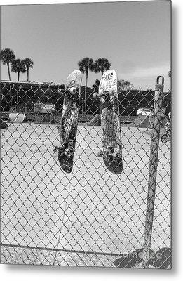 Skateboards Hanging Out Metal Print by WaLdEmAr BoRrErO